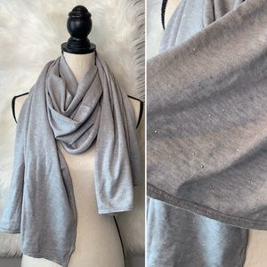 Anthropologie •Sunday gray scarf with sequins